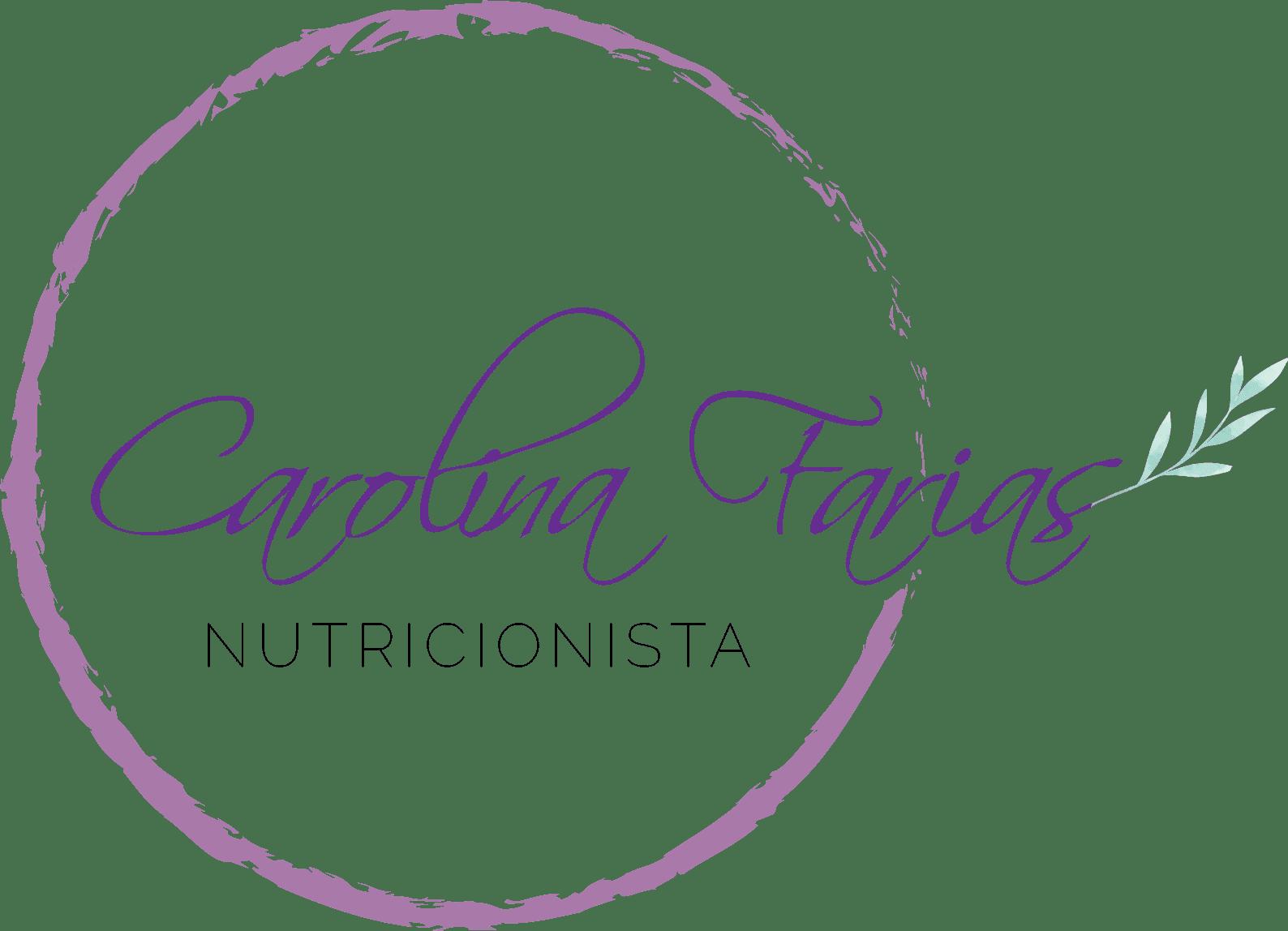 Logo oficial Carolina Farias